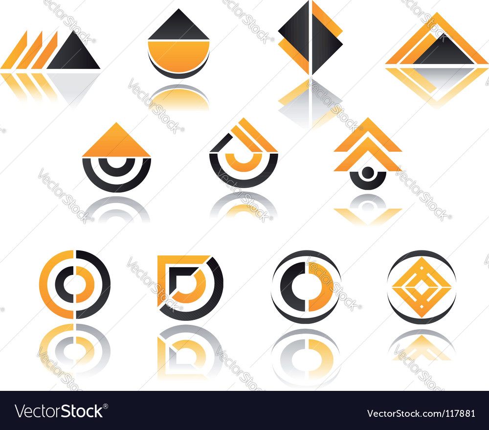 Set of symbols vector