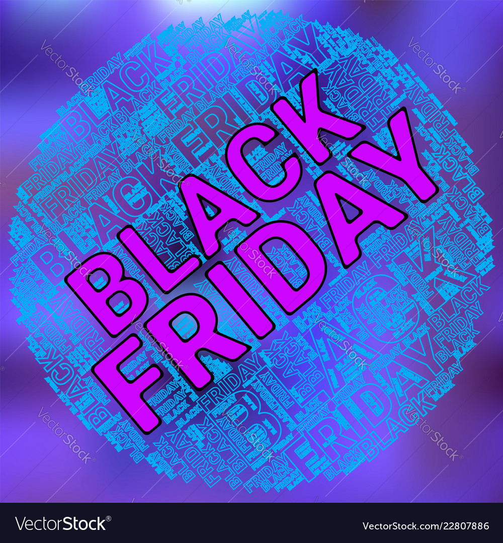 Black friday wordcloud text cloud typography