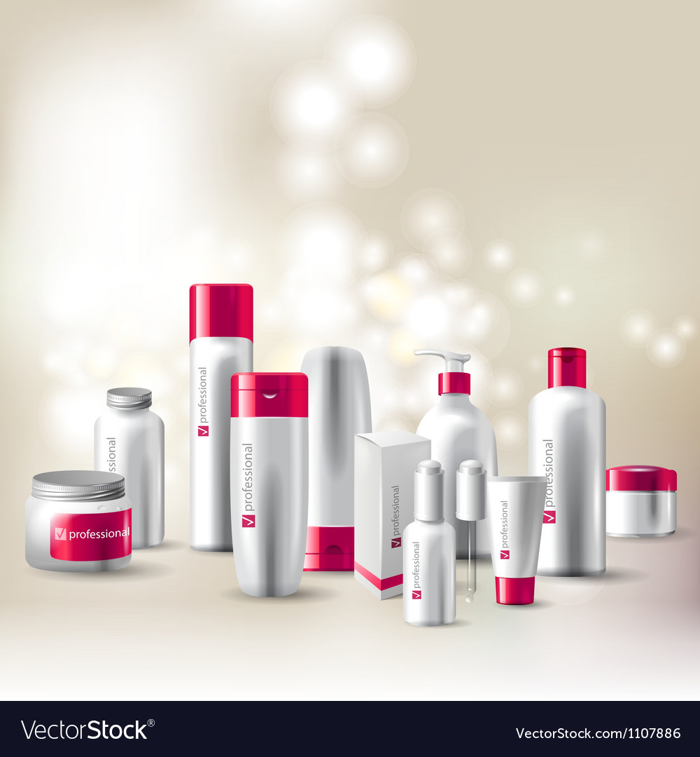 Cosmetics package vector image