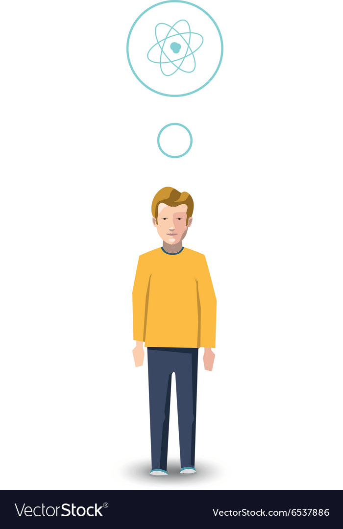 Flat character physicist with profession icon