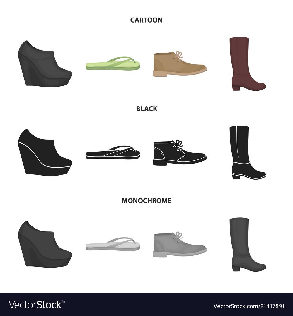 80a7c694dfe6d8 Autumn black shoes on a high platform flip flops vector image jpg 1000x1080 Platform  flip flop