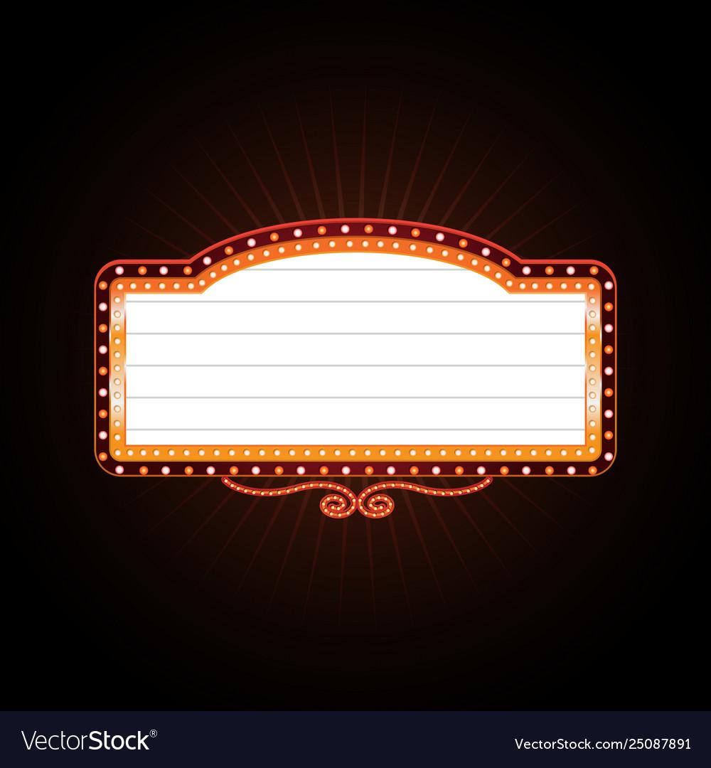 Brightly casino glowing retro casino neon sign