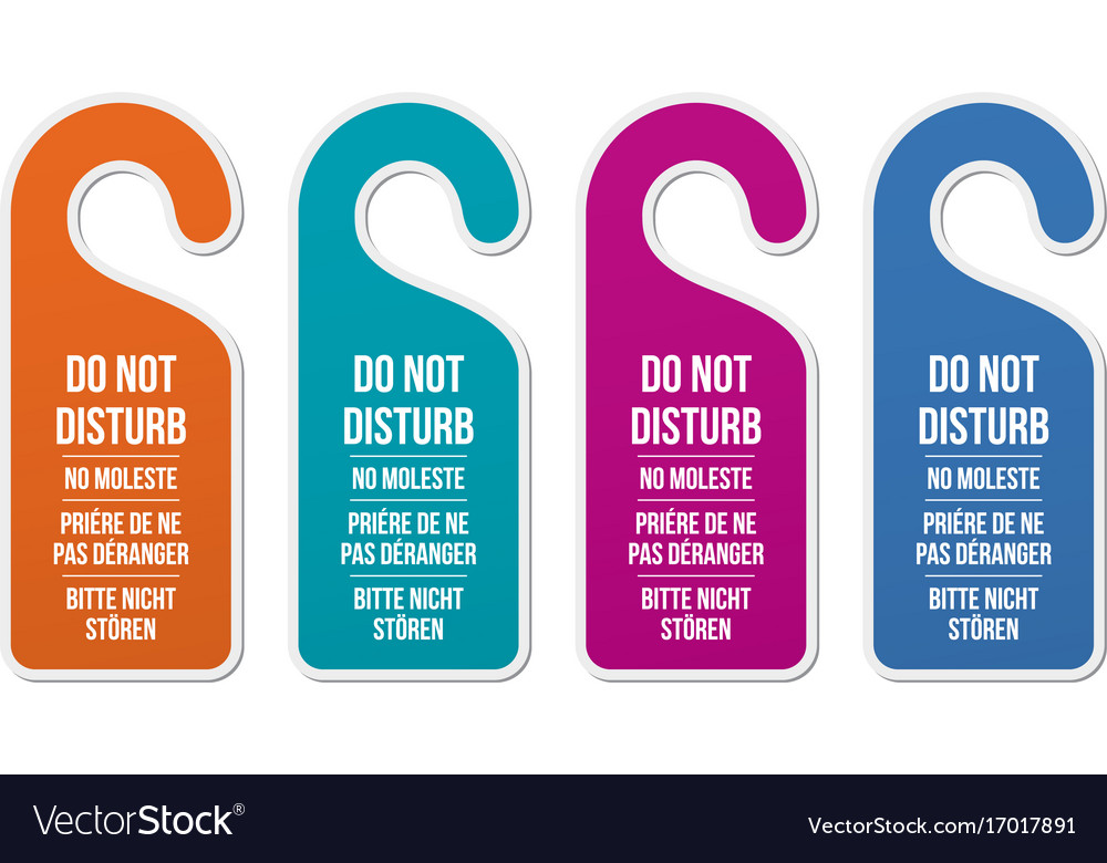 Do not disturb signs different languages