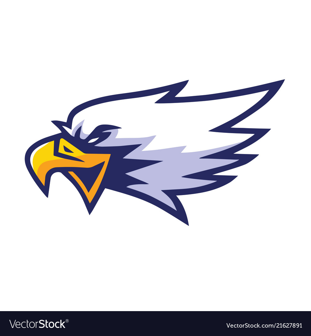 Eagle head mascot sports team logo template