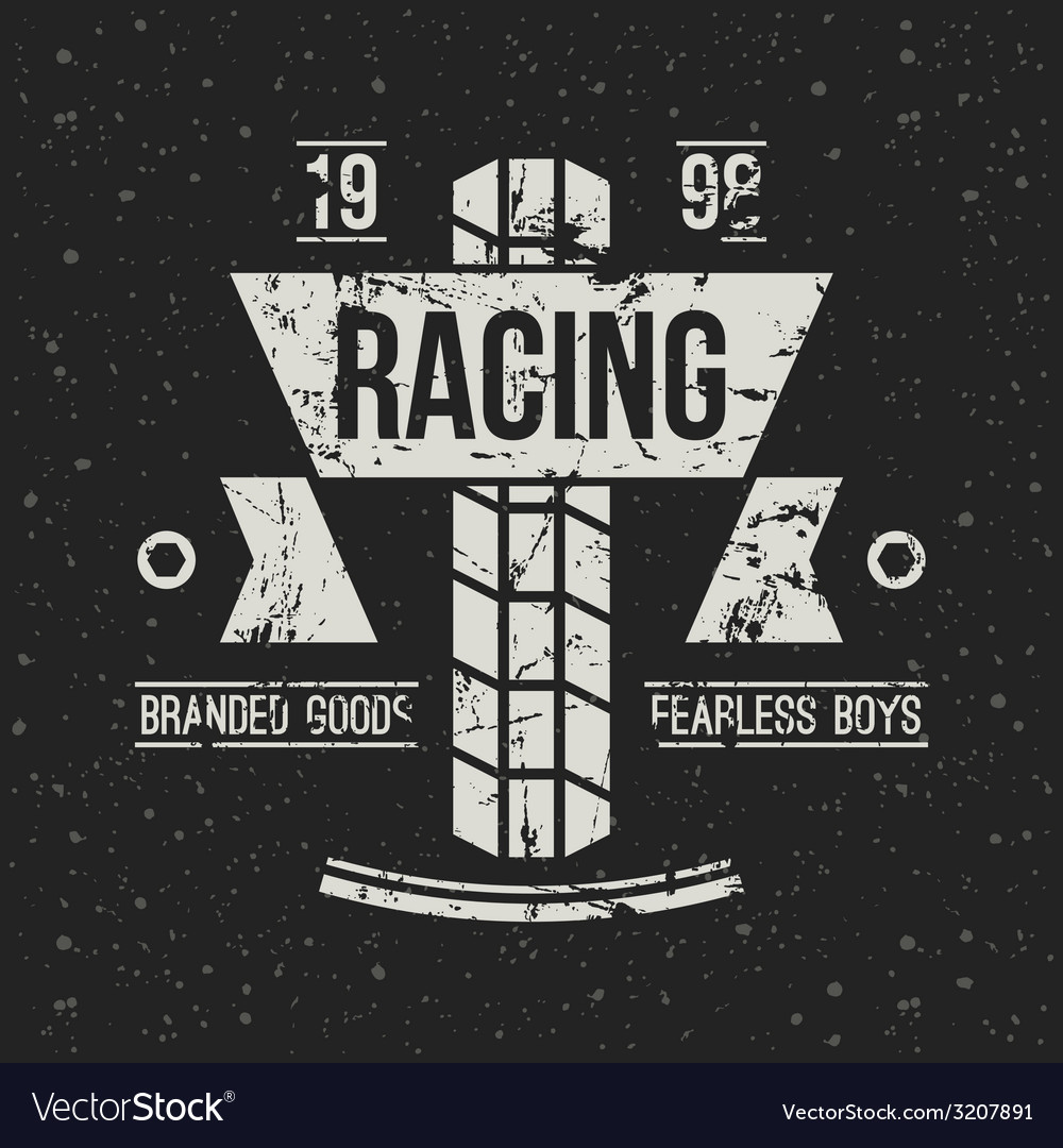Emblem motorcycle racing club in retro style