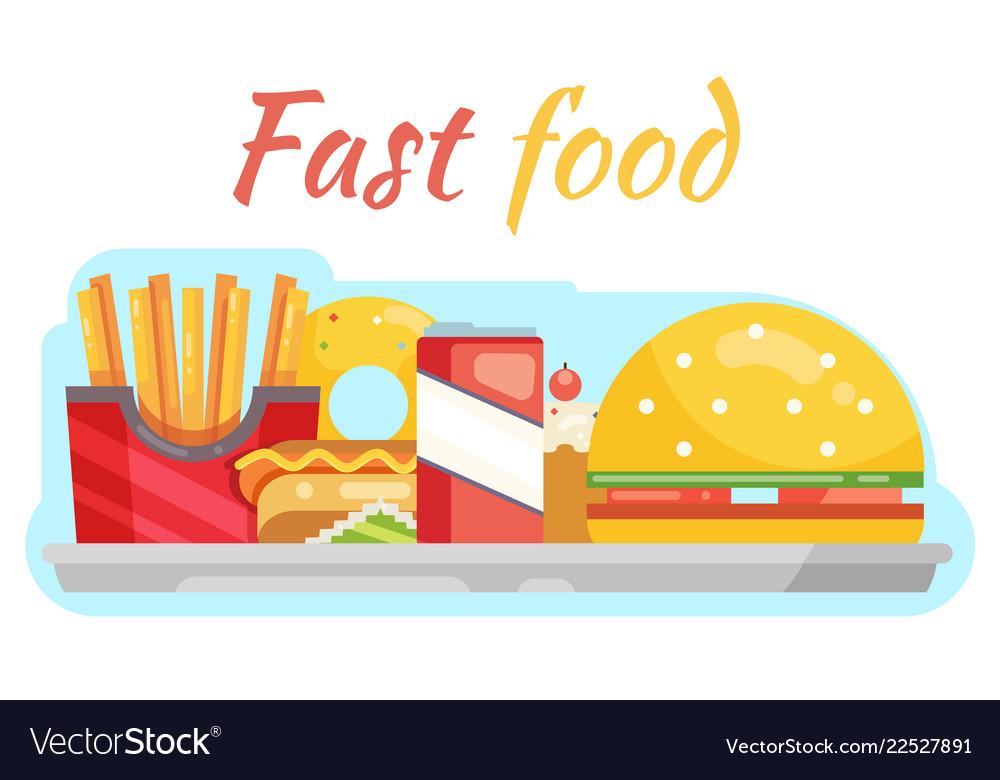 Fast food vegetable flat design