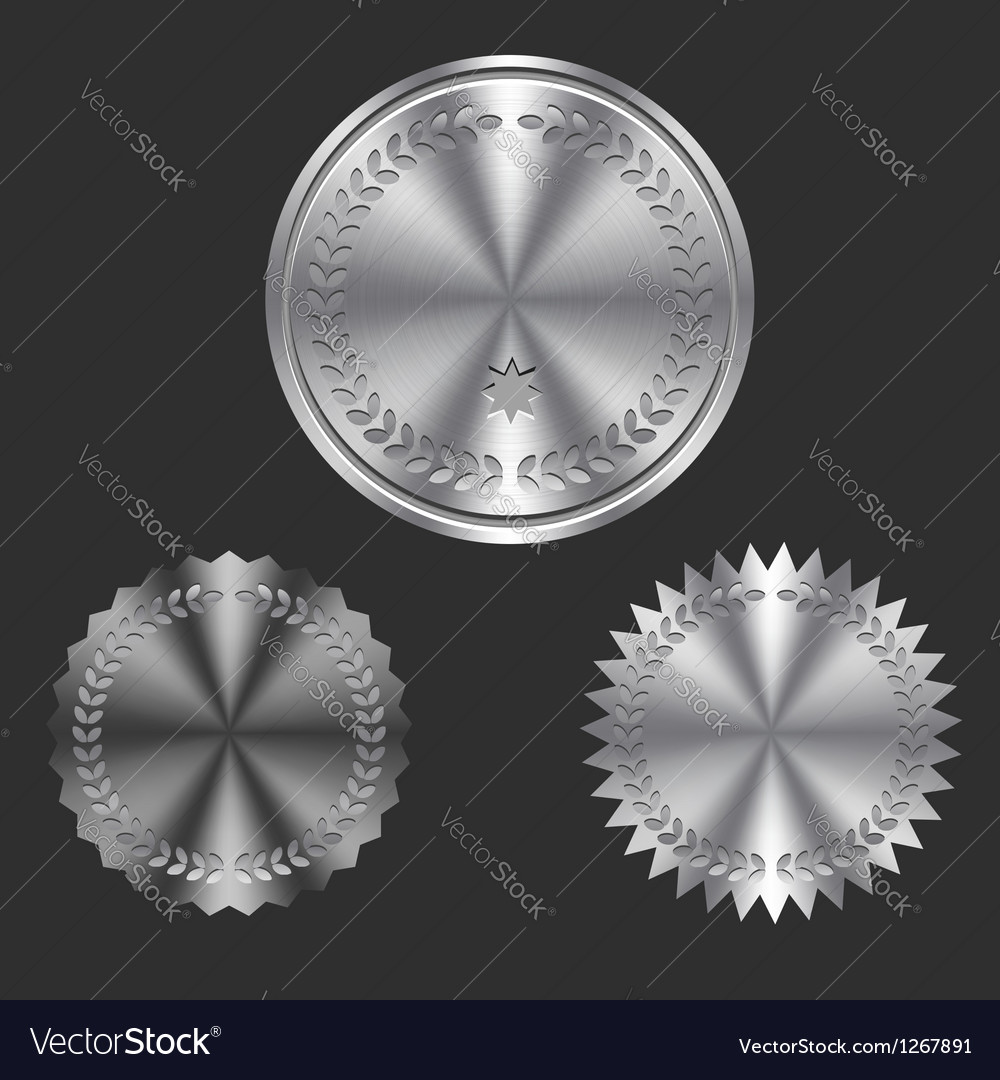 Metal Badges vector image
