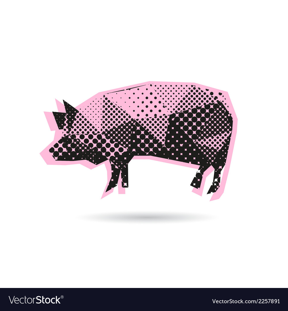 Pig abstract isolated vector image