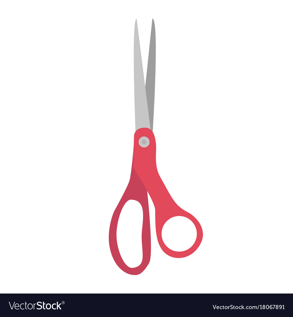 Sewing scissors icon vintage tool vector image