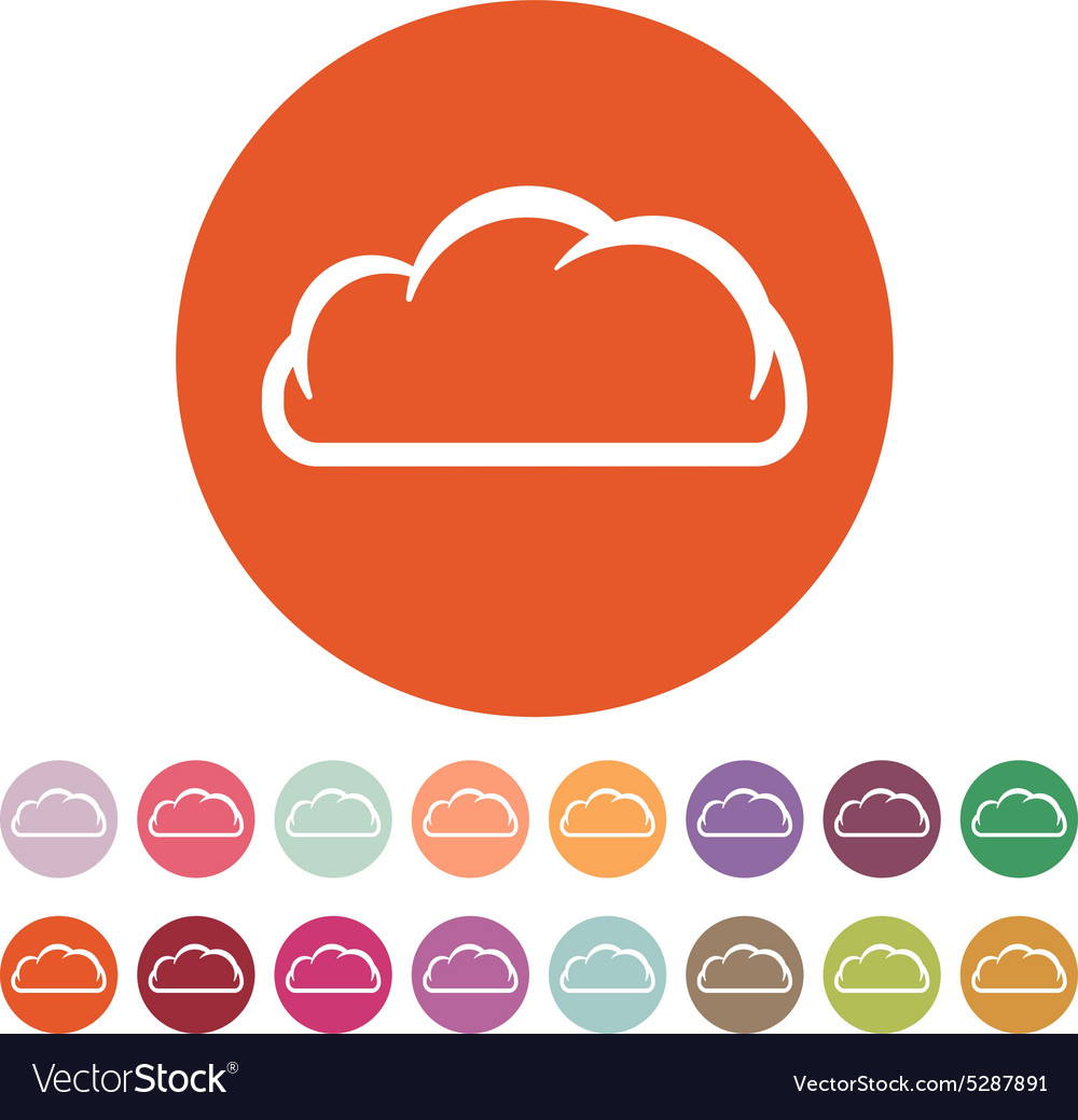 The Cloud Icon Cloud Symbol Flat Royalty Free Vector Image