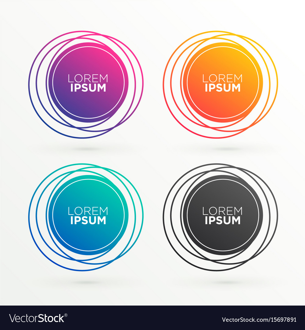 trendy circular banner shapes with space for your vector image