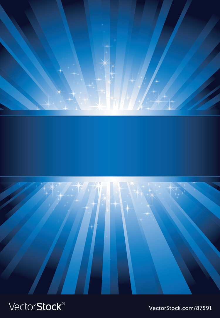 Vertical blue light burst vector image