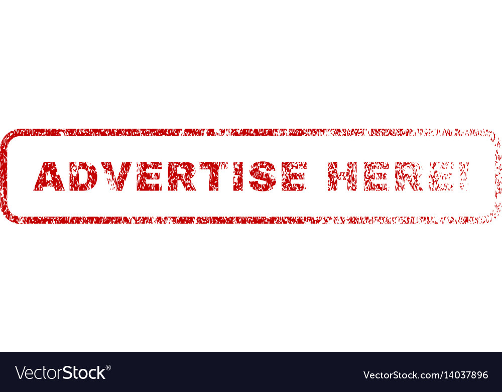 Advertise here exclamation rubber stamp vector image