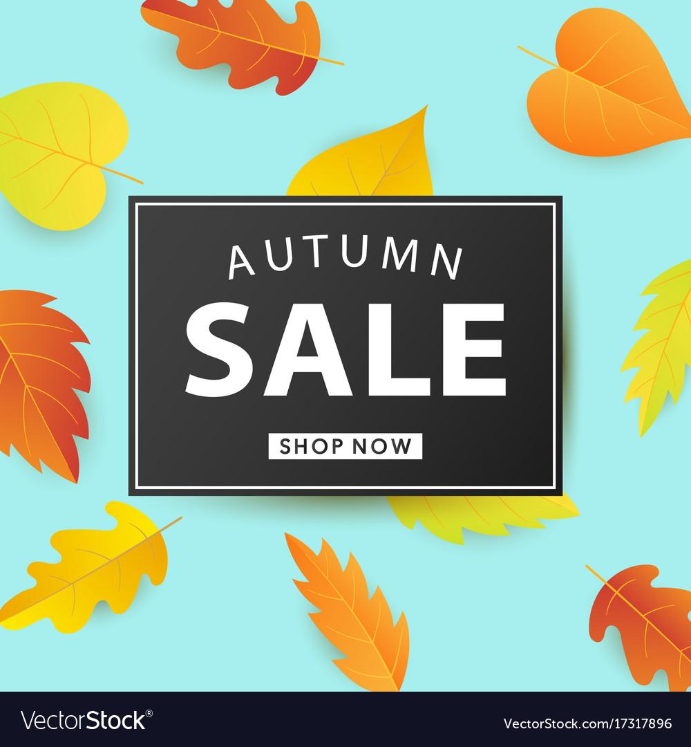 Autumn sale fashionable banner template