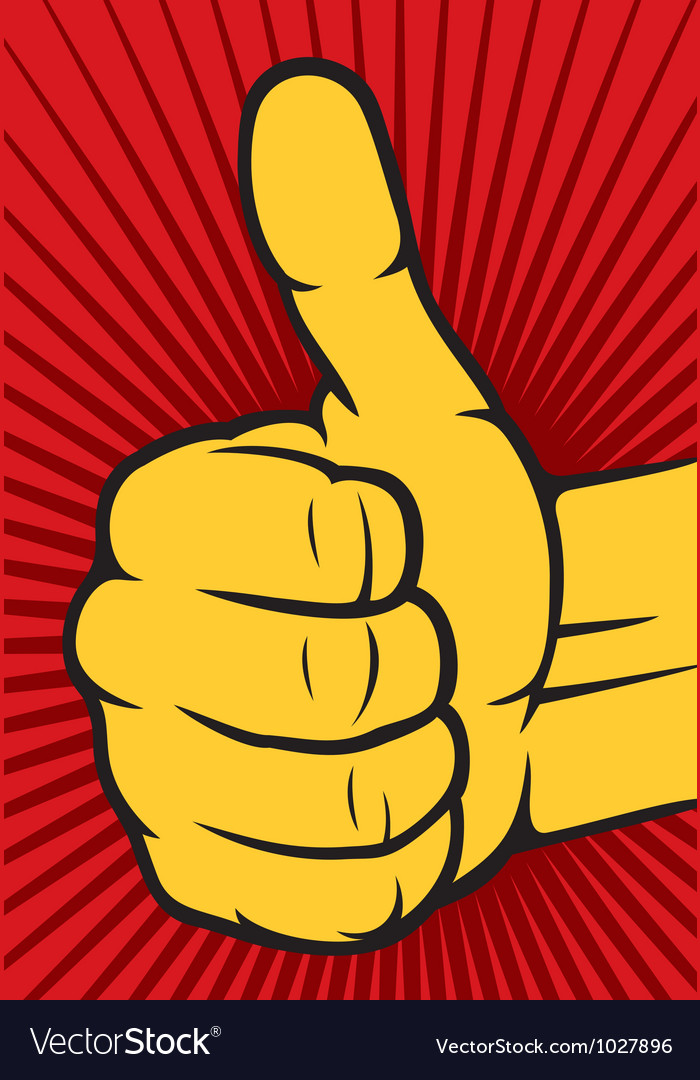 Hand showing thumbs up vector image