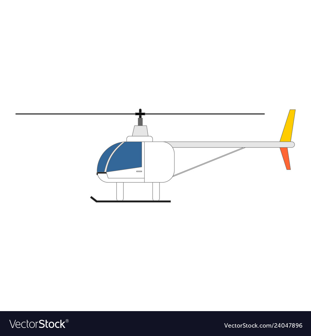 Helicopter icon side view design