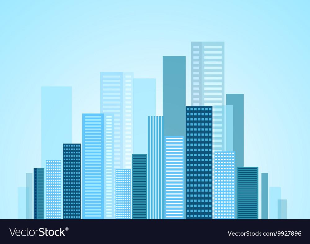Urban modern city panorama