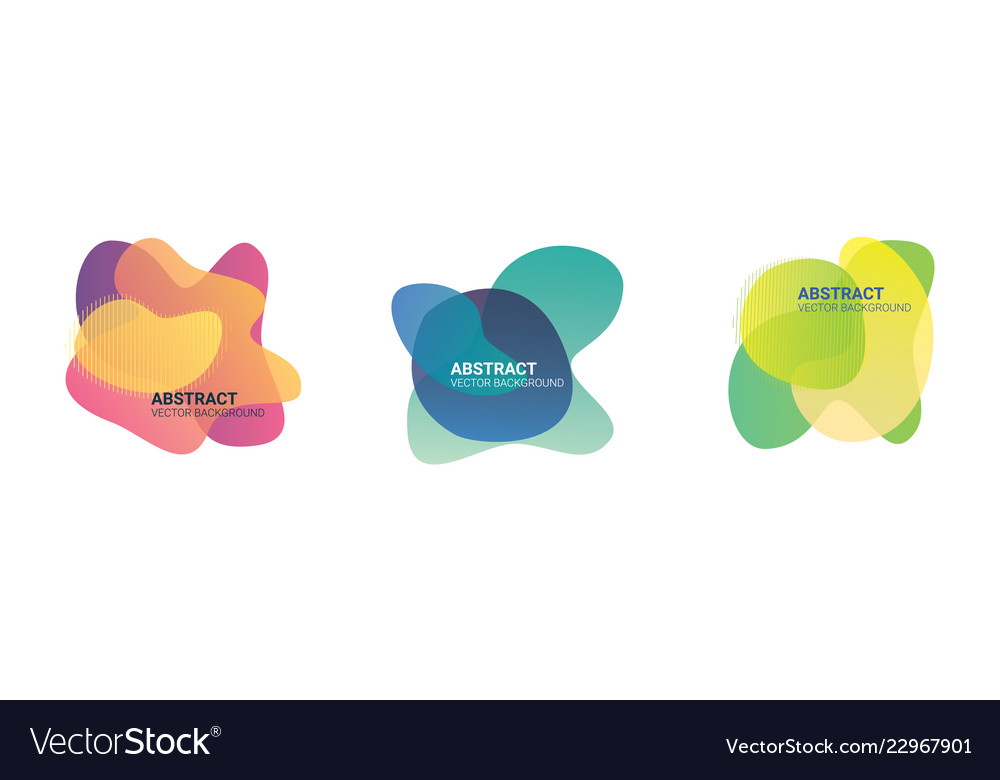 Abstract blur free form shapes color gradient