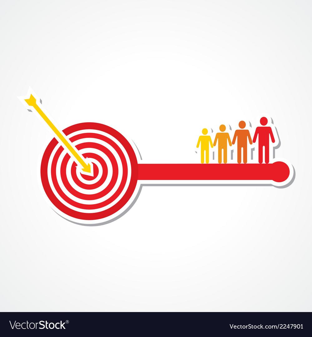 Archery board make key with people