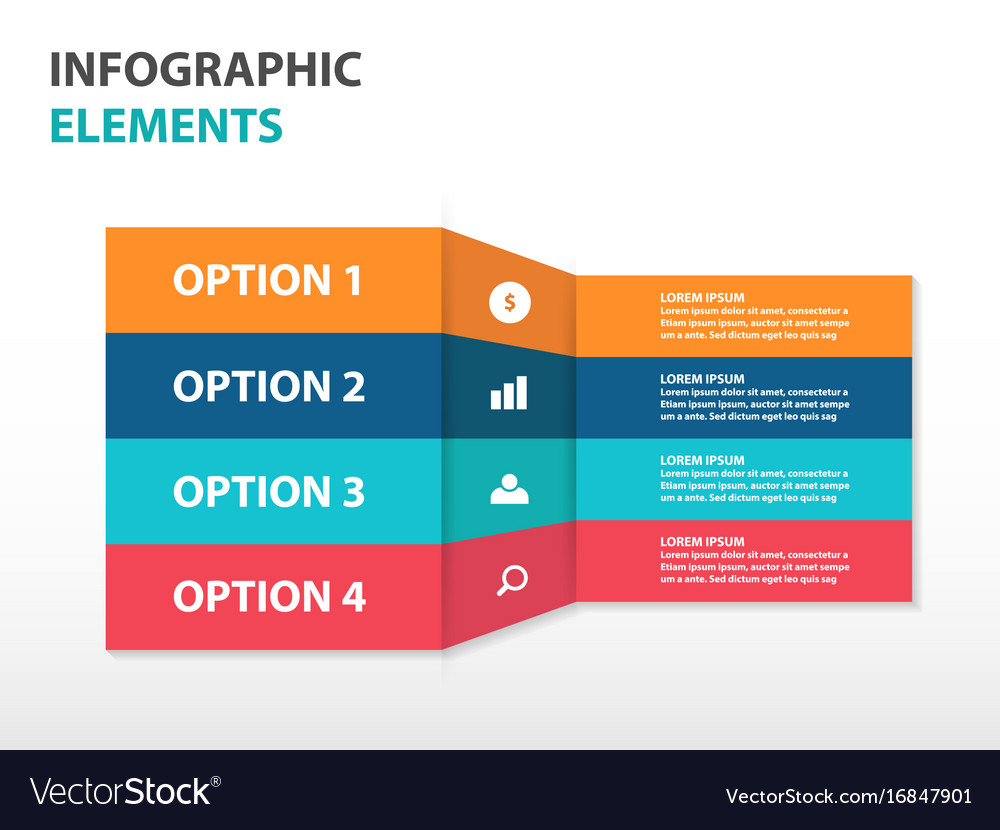 Colorful label business infographics elements