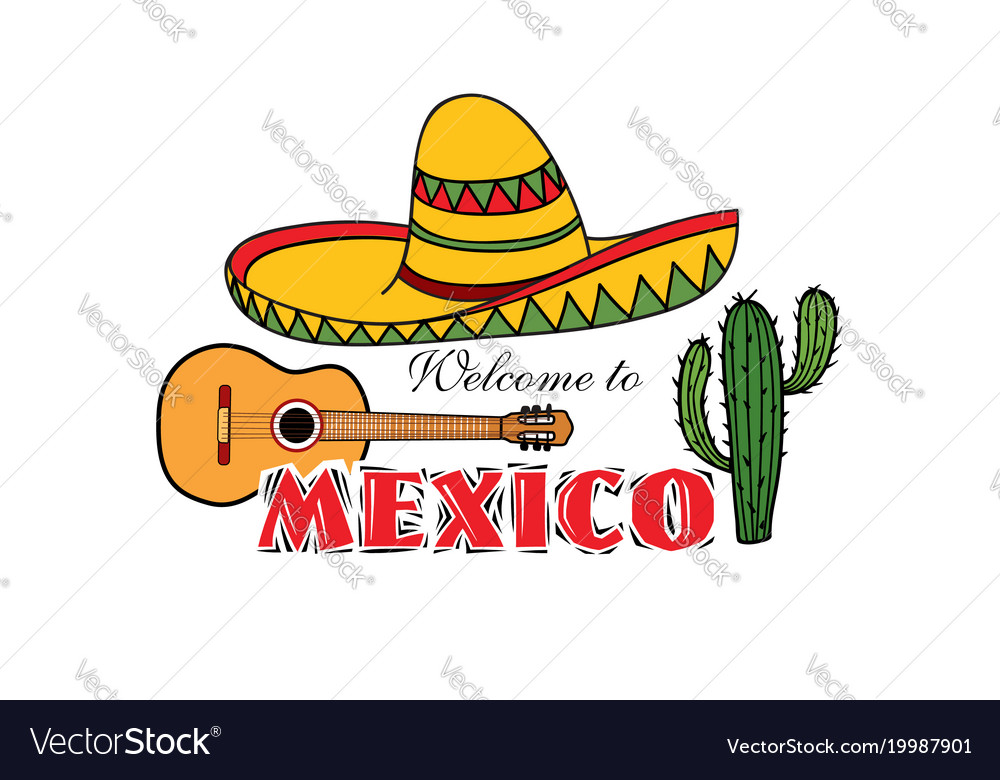 Mexican icon welcome to mexico sign travel sign