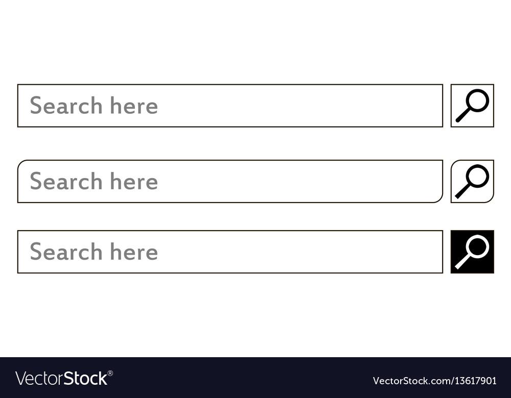 Search bar element design set
