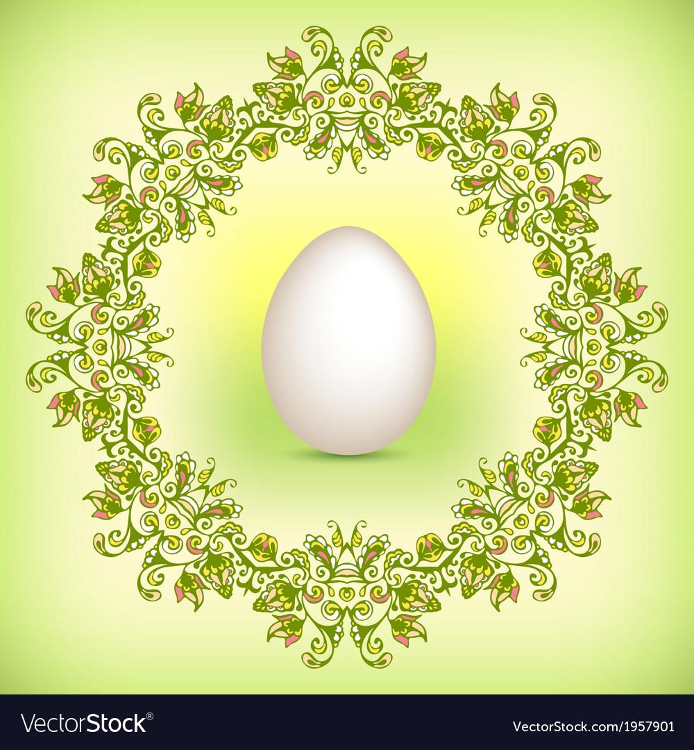 Spring green Easter border vector image