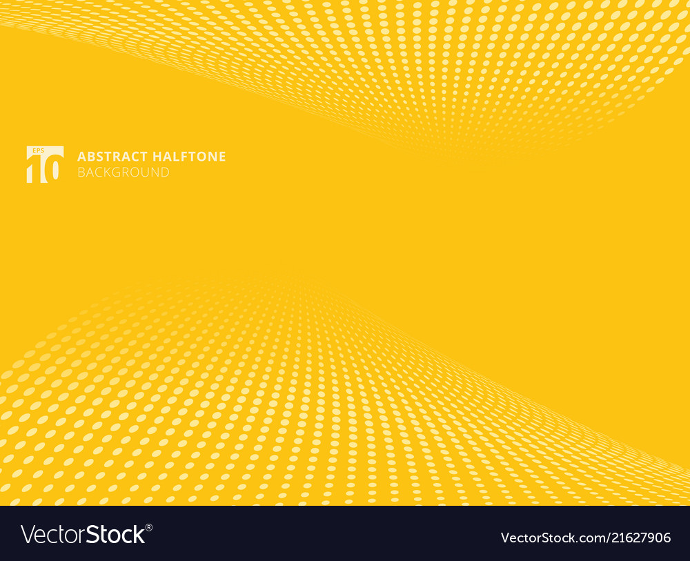 Abstract pattern dots yellow color halftone