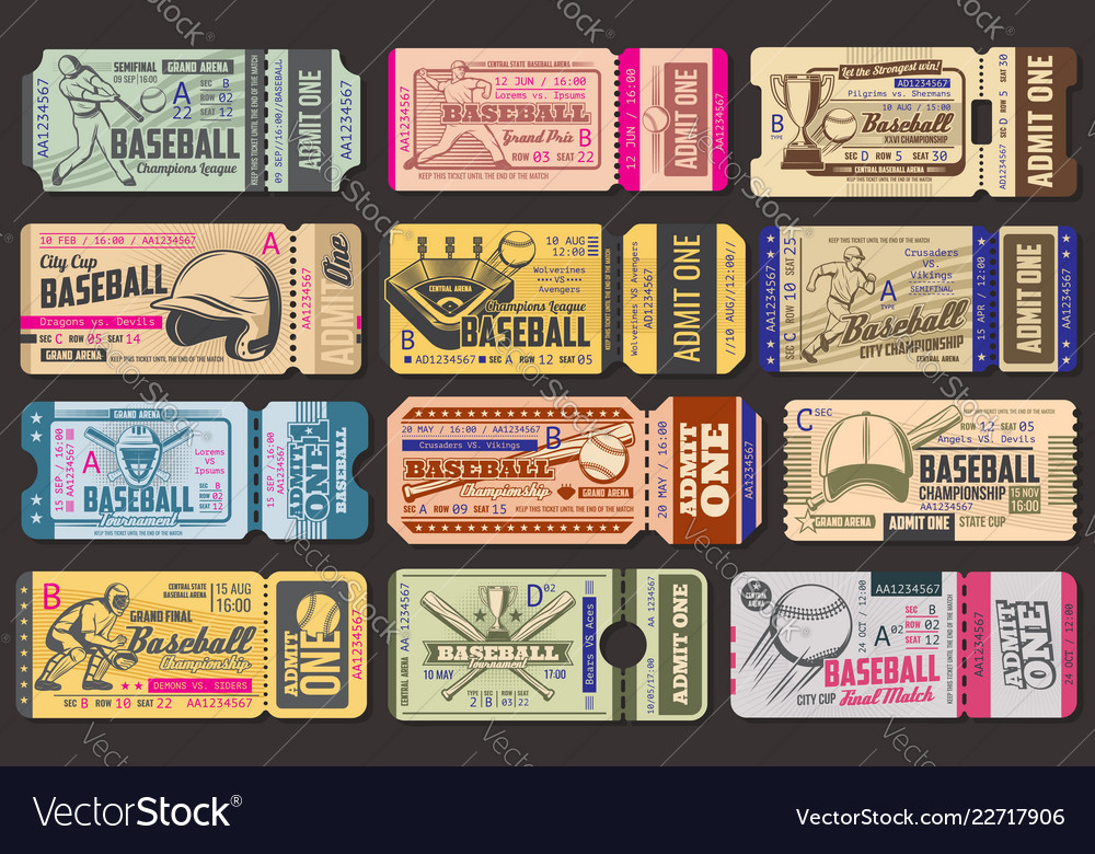 Admission tickets baseball game