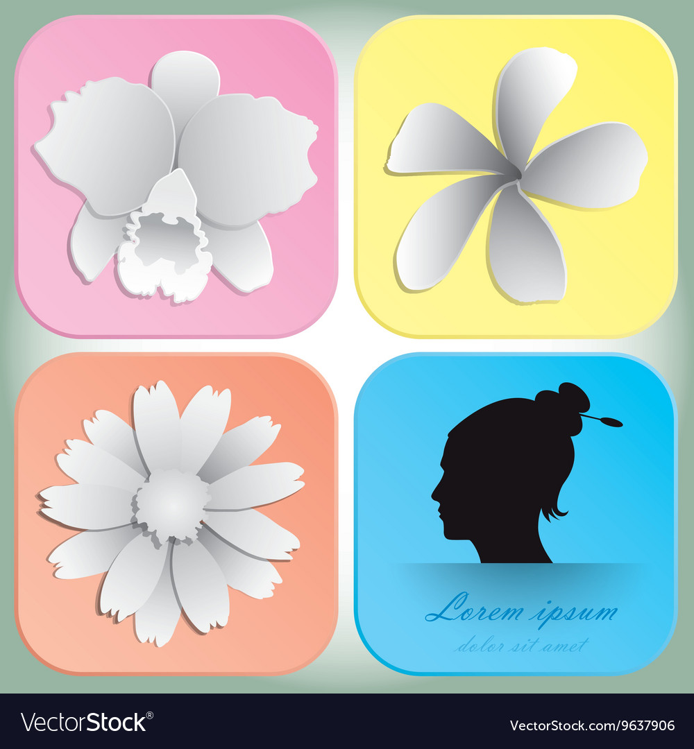 Beautiful flowers design for spa background and vector image izmirmasajfo