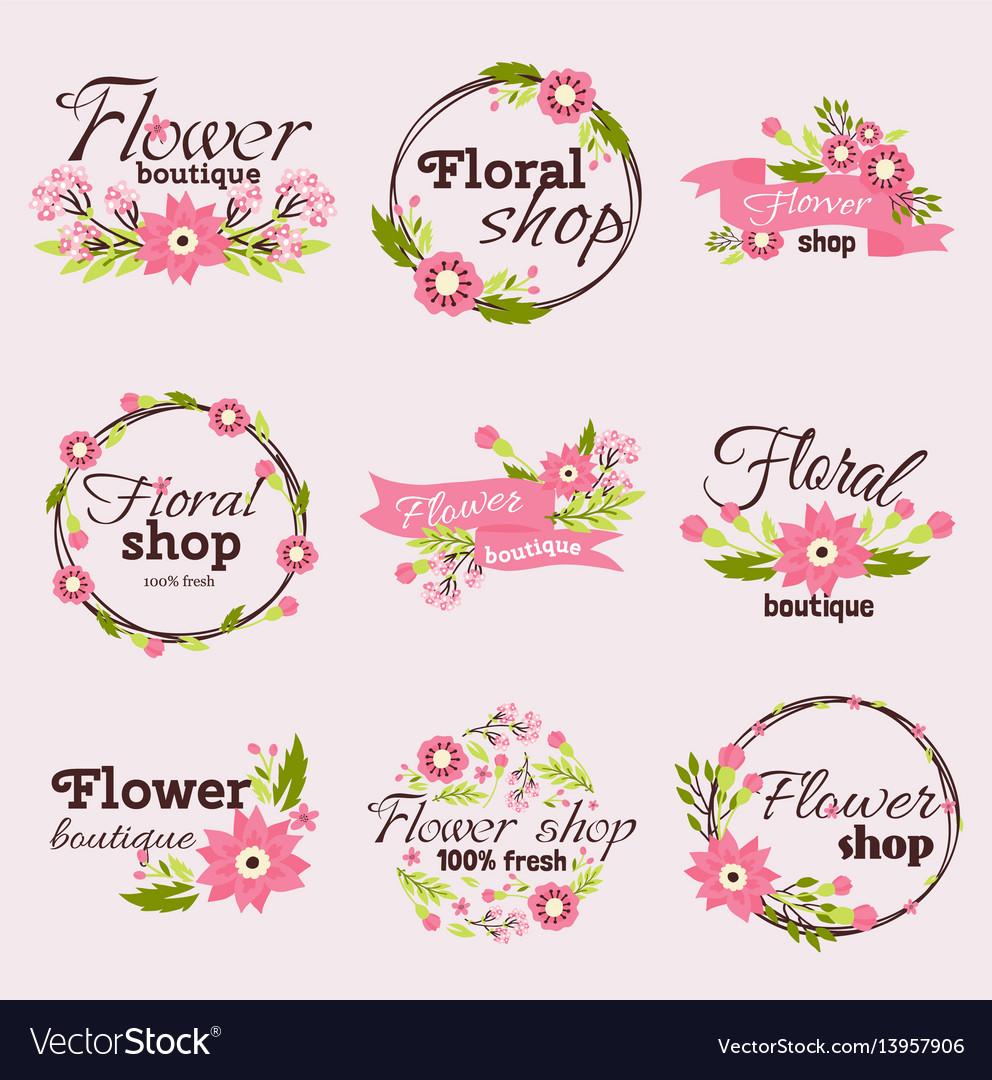 Bright sign flower shop