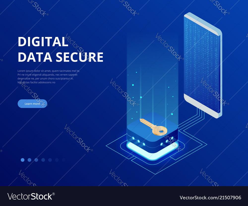 Isometric internet security lock transferring data