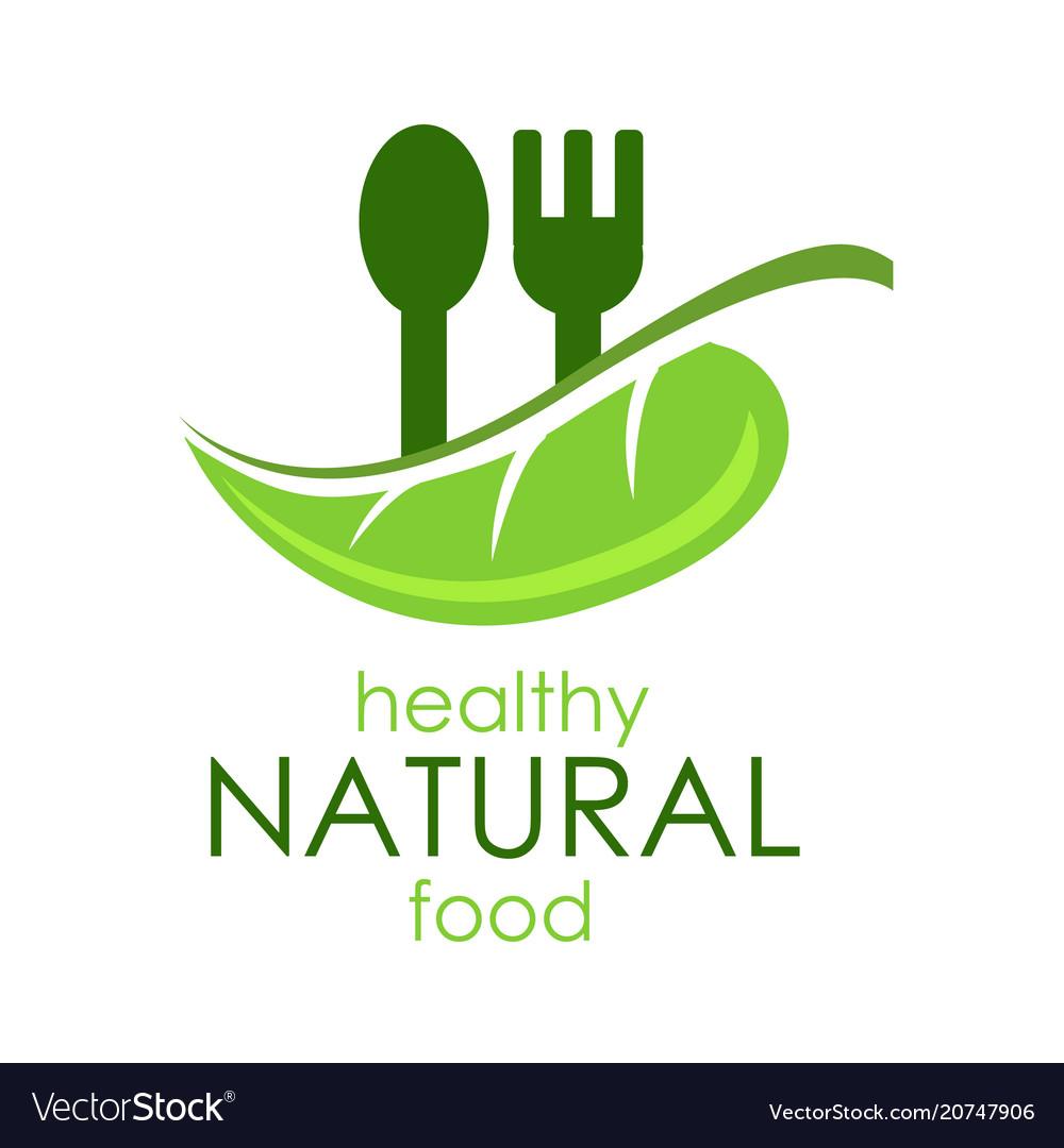 Logo healthy natural food