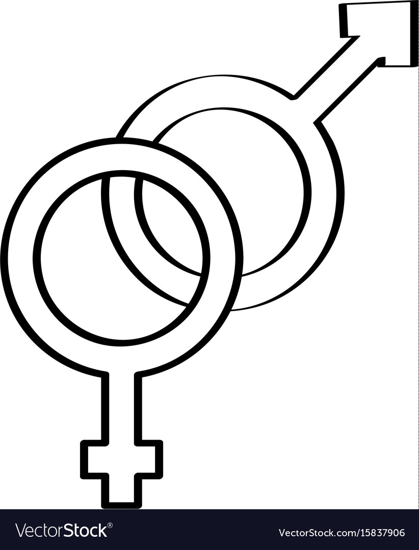 Male And Female Symbol Royalty Free Vector Image