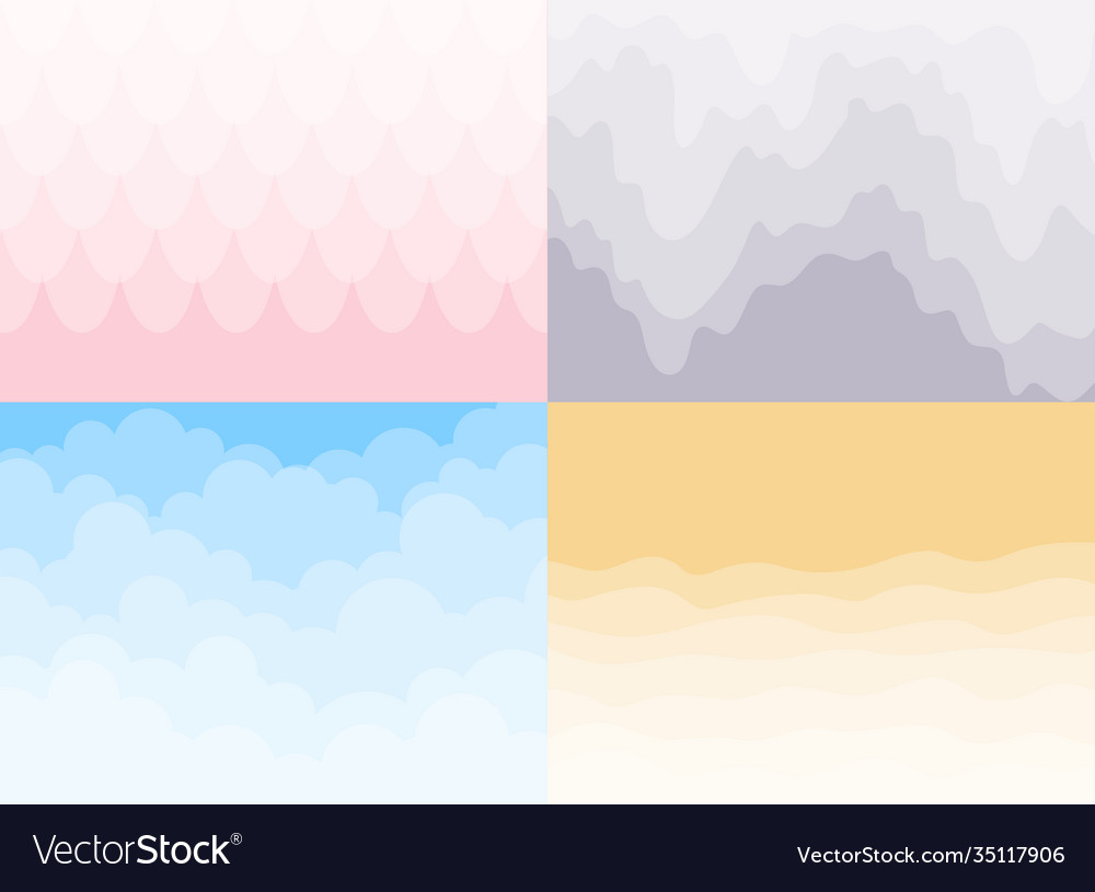 Set different background sky and clouds waves