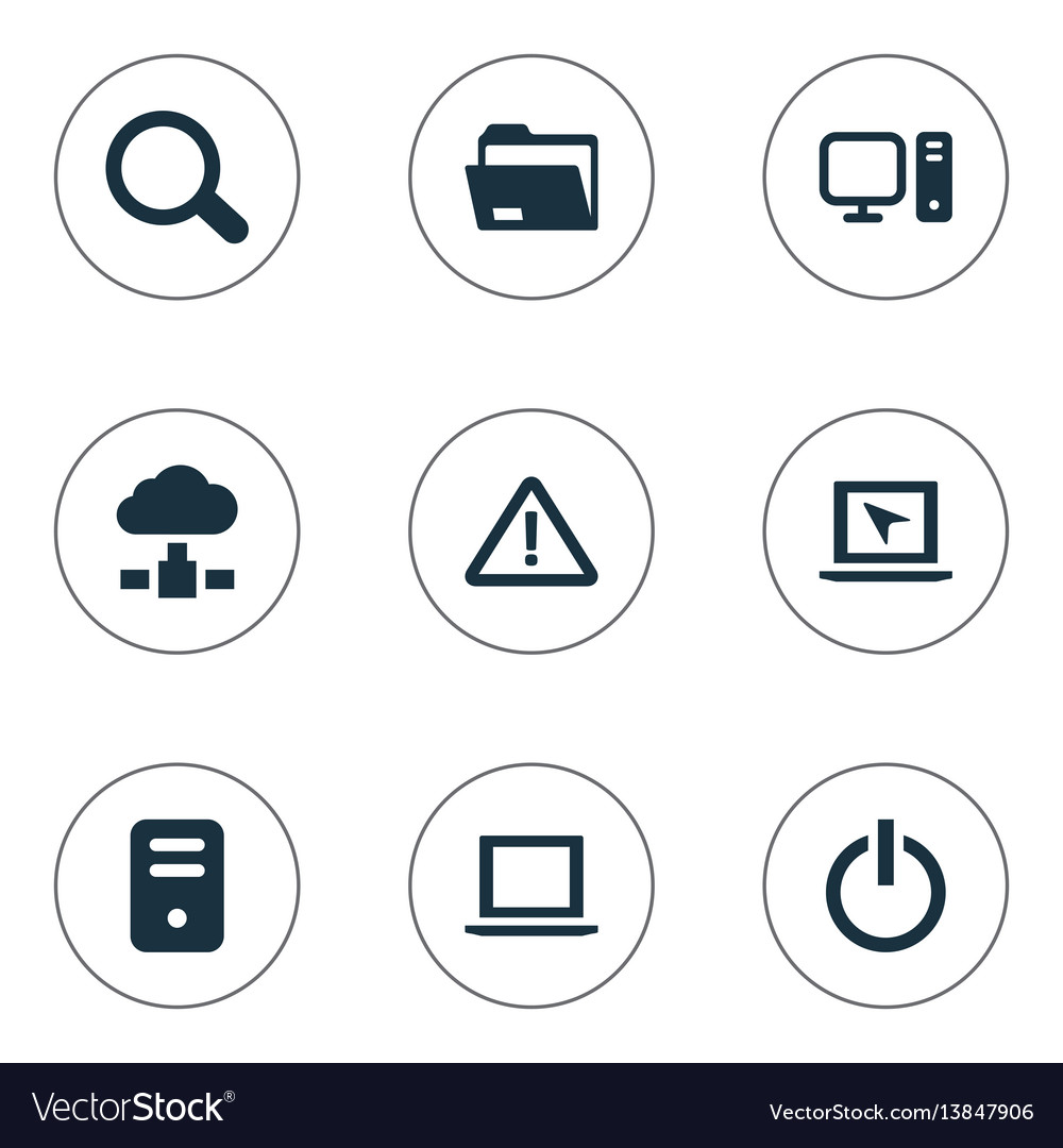 Set of simple notebook icons