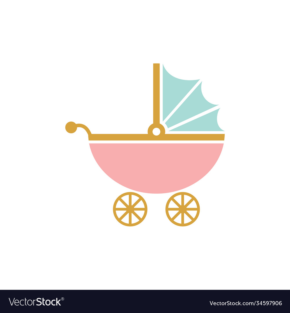 Stroller icon design template isolated