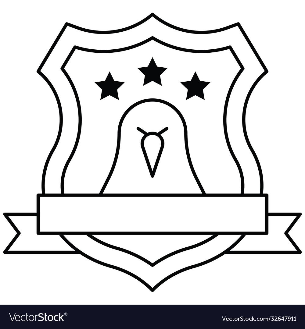 Award shield with eagle symbol united state