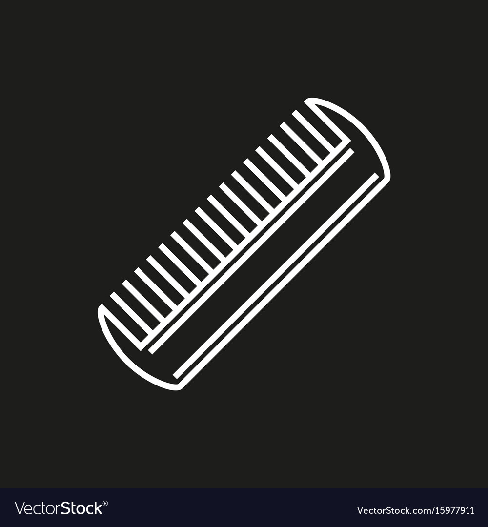 Comb icon isolated on black background