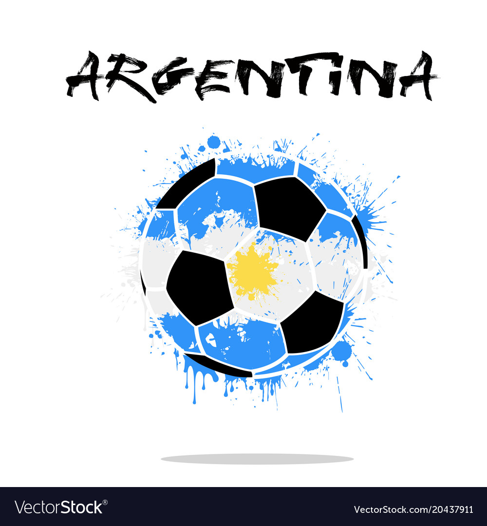 Flag of argentina as an abstract soccer ball Vector Image 7b807461c8c5