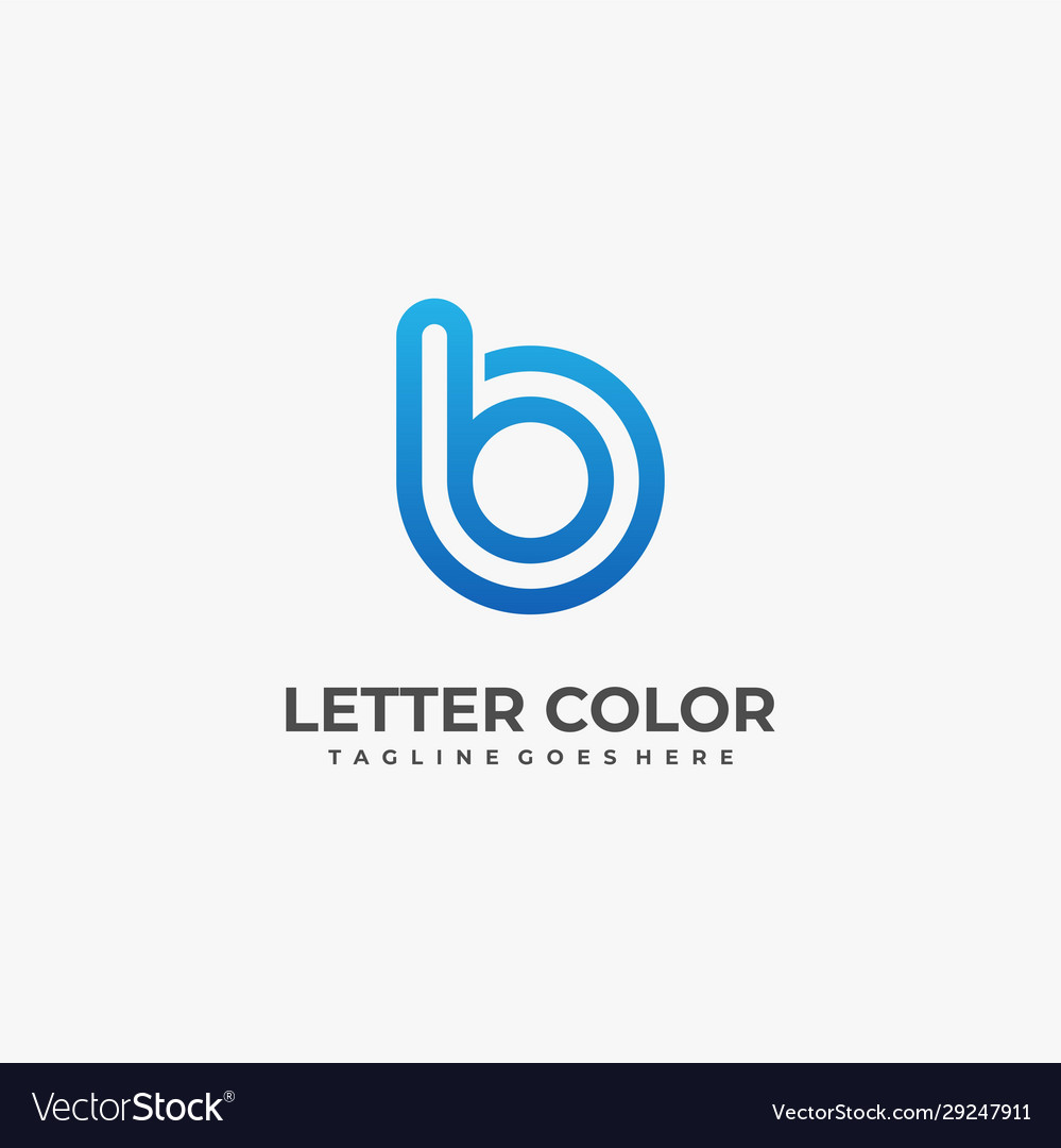 Logo abstract letter b gradient colorful