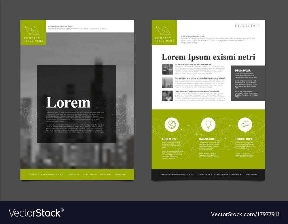 Modern business corporate brochure flyer design