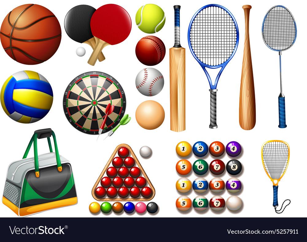 Инвентарь для всех видов спорта в картинках