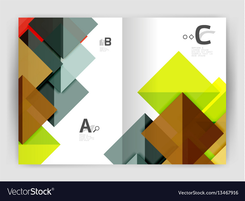 Abstract background with color triangles annual