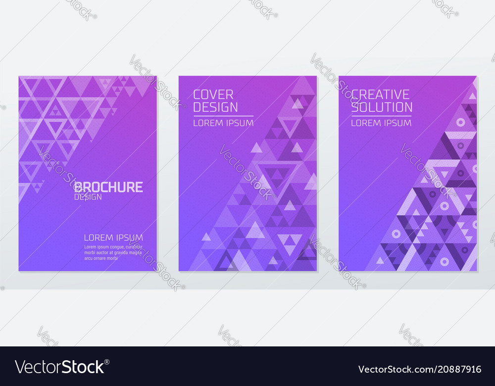 Abstract geometric shapes polygon design