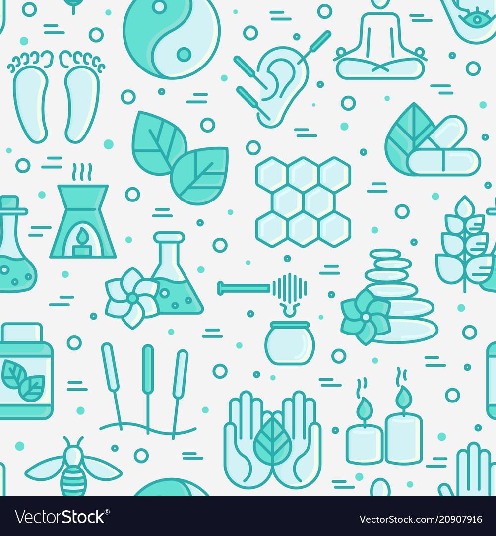 Alternative medicine seamless pattern