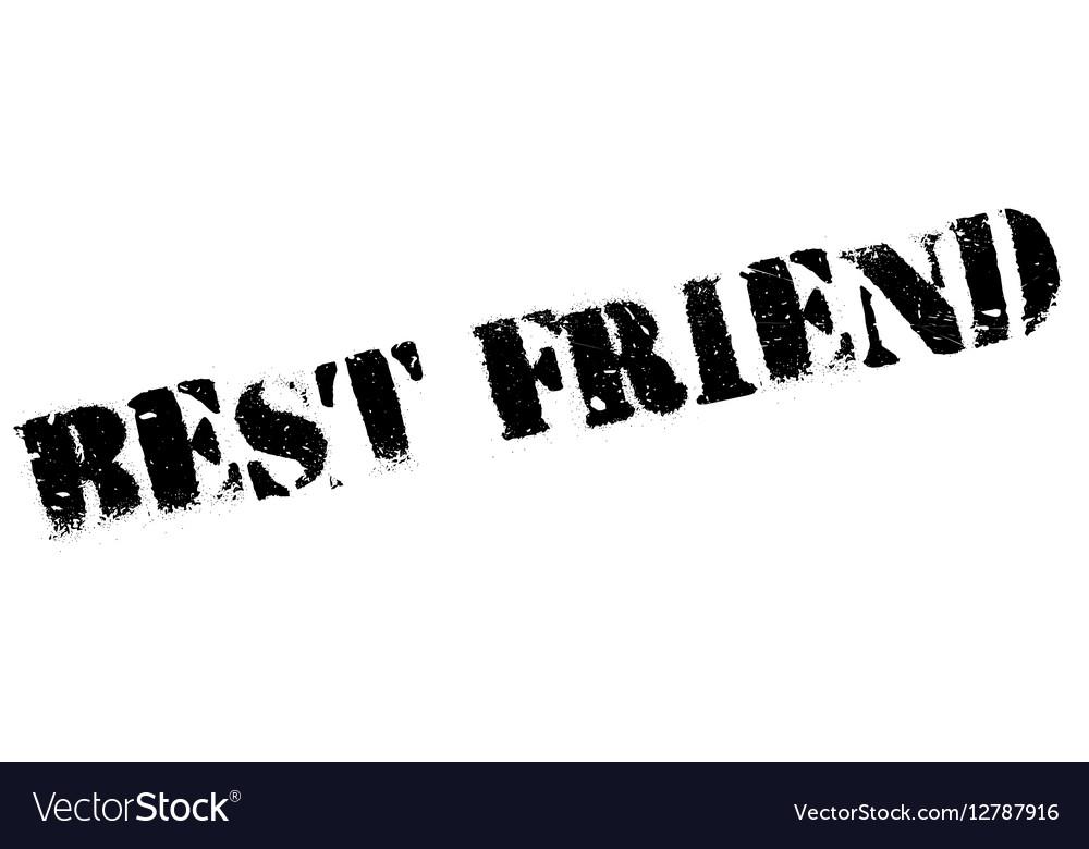 Best Friend rubber stamp