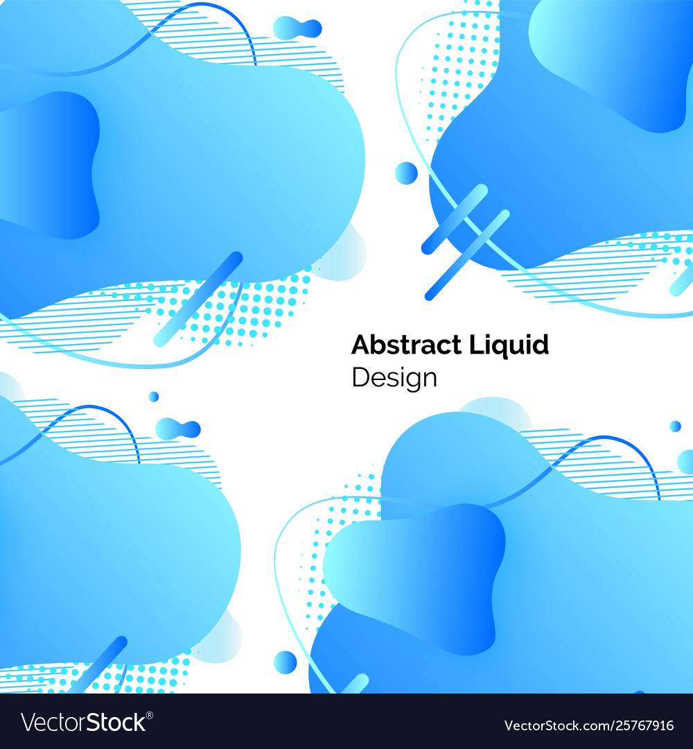 Blue abstract liquid design lines and shapes