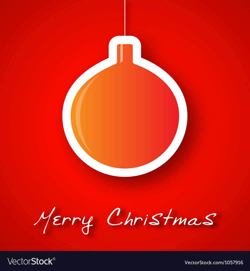 Christmas ball applique background vector image