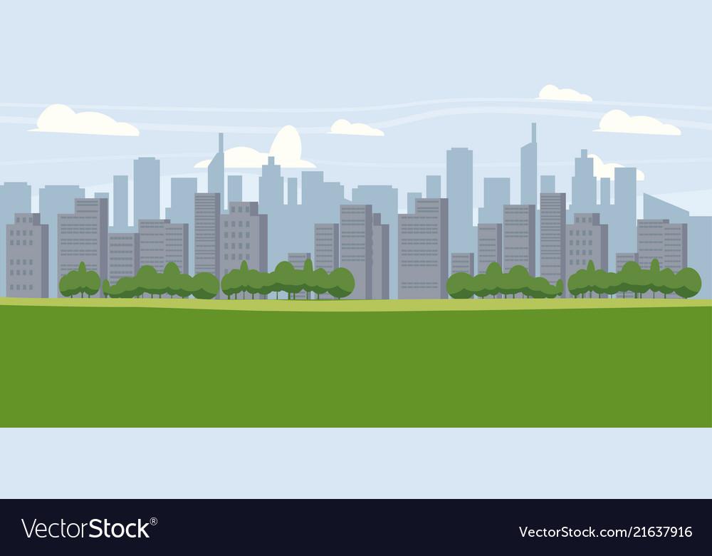 Cityscape metropolis panorama horizon
